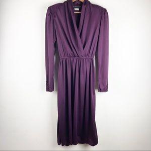 ☀️Maxi Purple Dress Long Sleeve
